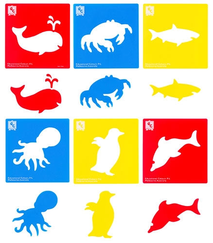 EC Stencils Sealife/Ocean Creatures Set 6