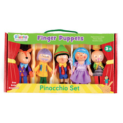 FIESTA CRAFTS Finger Puppet Set Boxed Pinocchio