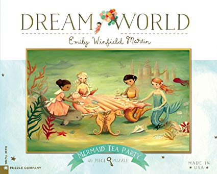New York Puzzle Co. - Dream World Mermaid Tea Party 60 pc