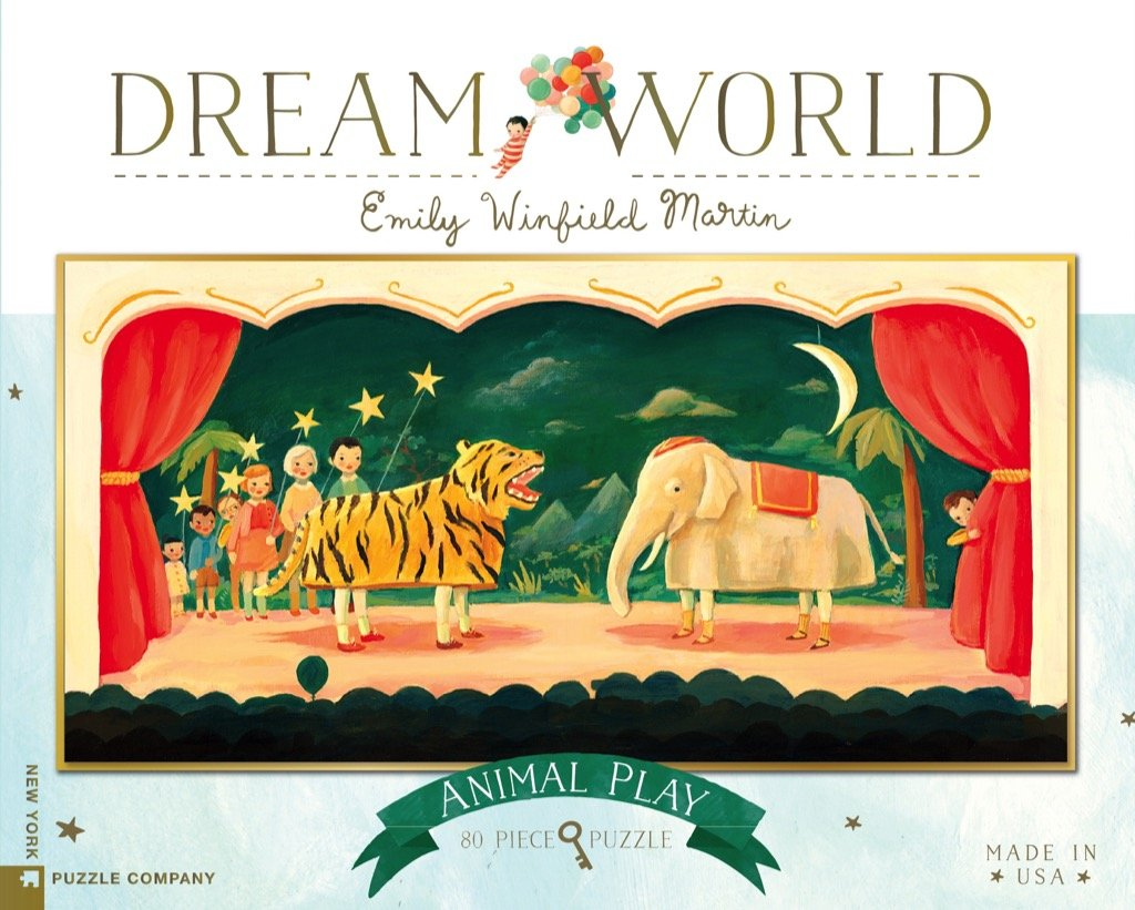 New York Puzzle Co. - Dream World Animal Party 80pc