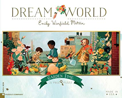 New York Puzzle Co. - Dream World Garden Time 24 pc