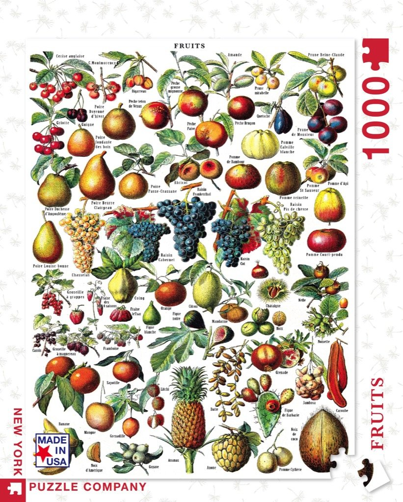 New York Puzzle Co. -Vintage Puzzle - Fruits 1000 pc
