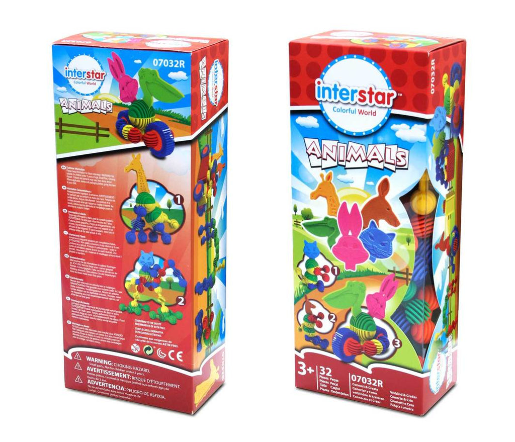 Interstar Construction - Animals Boxed 32pce