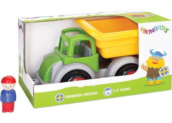 VIKING TOYS Jumbo Tipper Truck with 1 Figure BOXED