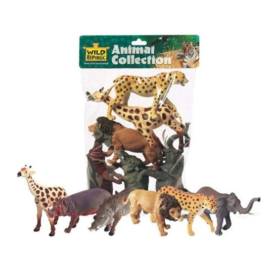 WILD REPUBLIC Bags African Animals 6pc