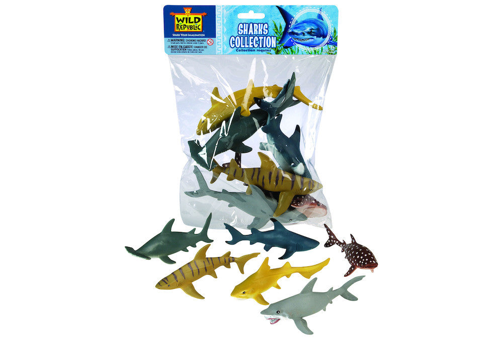 WILD REPUBLIC Bags Sharks 6pc