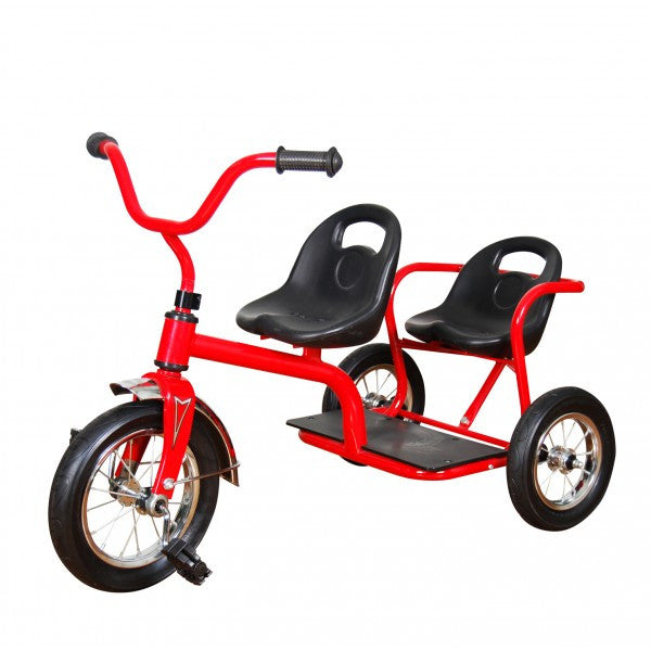 ZEDFX Straight Frame Tandem Trike Red – Toys2Learn