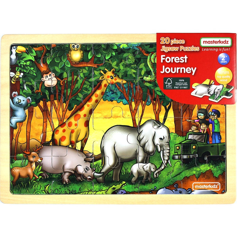 MASTERKIDZ Wooden Puzzle - Forest Journey - 20 Piece