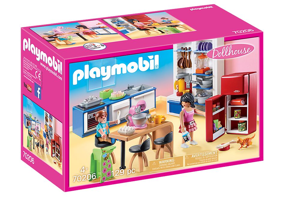 PLAYMOBIL Dollhouse - Modern Kitchen - 70206