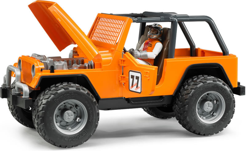 BRUDER -JEEP CROSS COUNTRY RACER BLUE WITH DRIVER Orange 2542