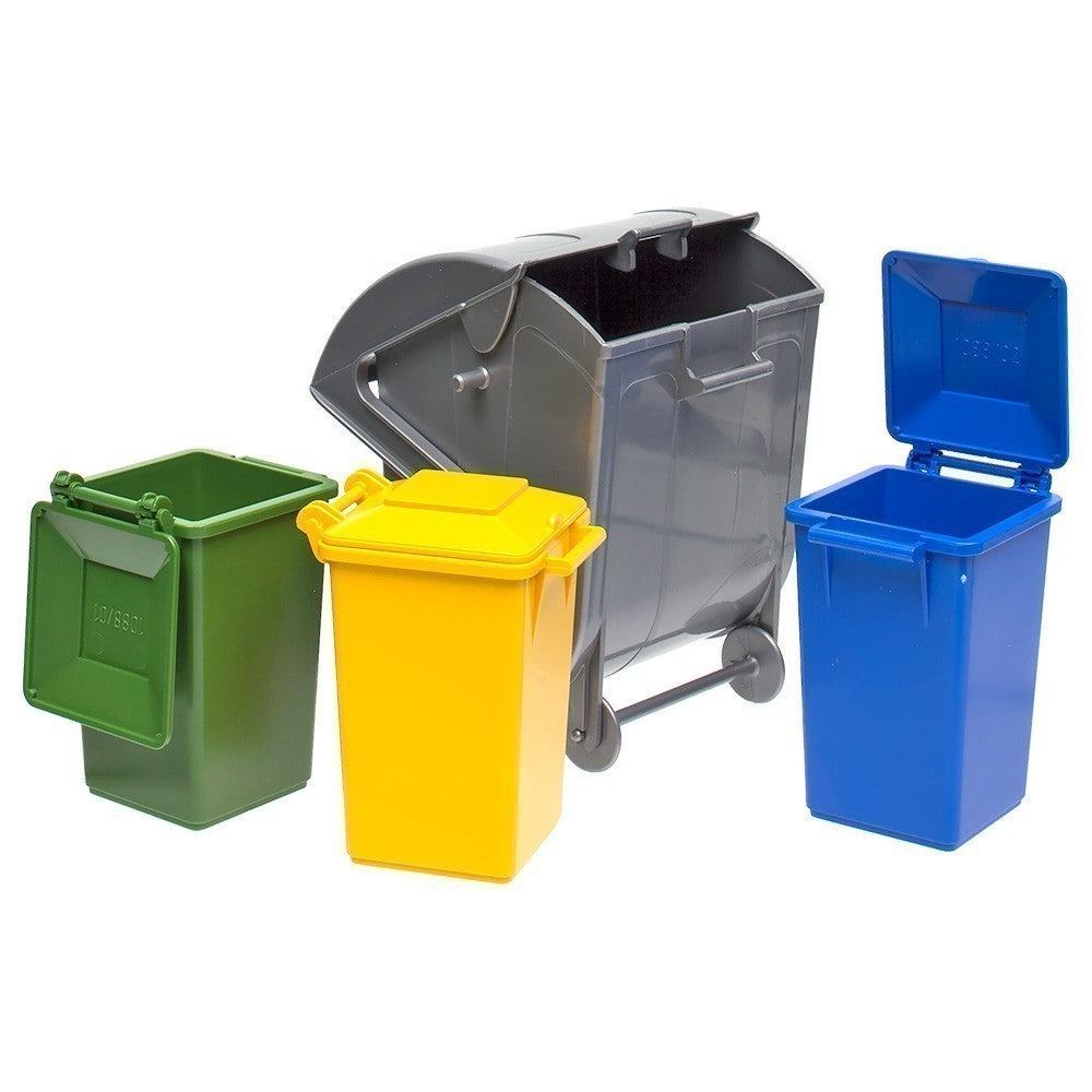 BRUDER - Garbage Truck Accessories -Set of 4 Bins 2607