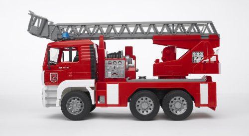 BRUDER - Man Fire Engine / Ladder, Water pump,Sound Lights 2771
