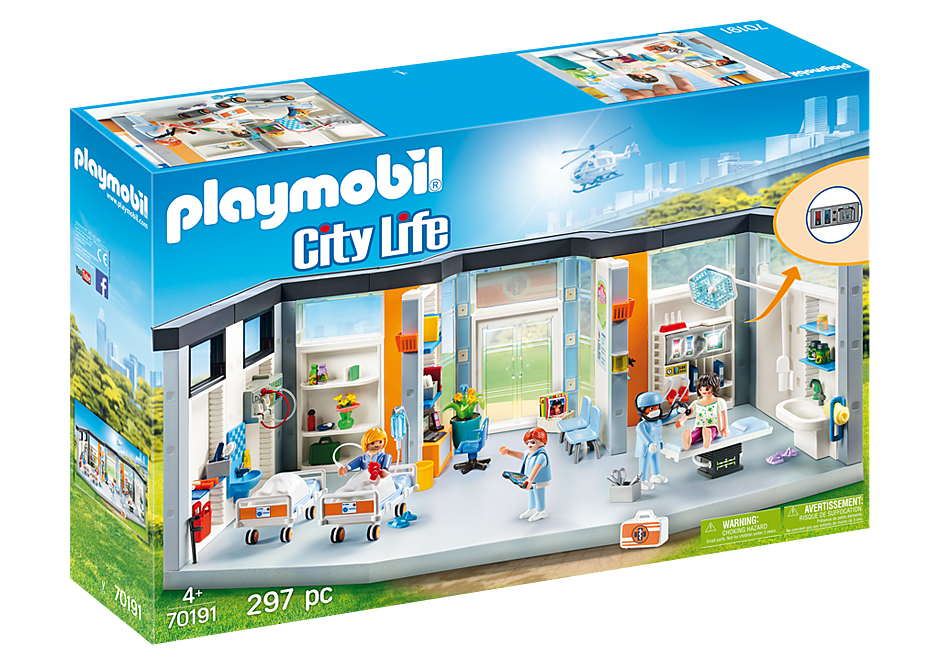 PLAYMOBIL City Life Medical - Hospital Wing Furnished - 70191