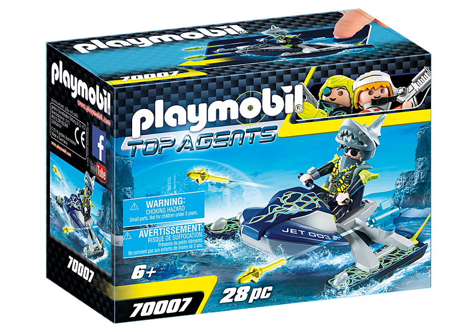 PLAYMOBIL TEAM S.H.A.R.K. Rocket Rafter -70007