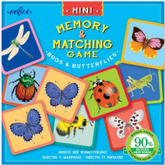 EEBOO Mini Memory Matching Game - Bugs & Butterflies