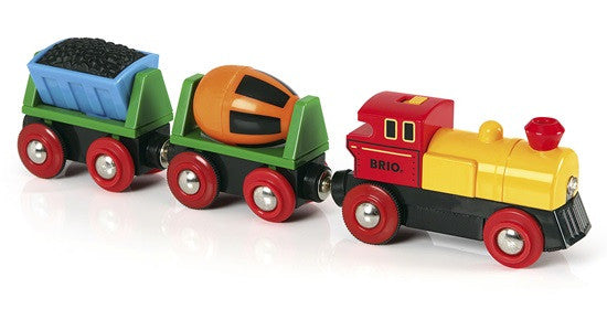 BRIO Battery Operated Action Train w/cariages