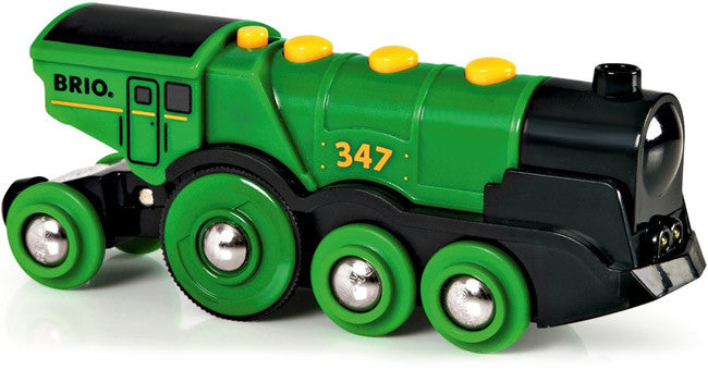 BRIO Battery Operated Big Green Action Locomotive