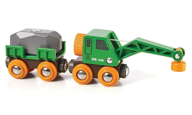 BRIO Crane Wagon & Vehicle