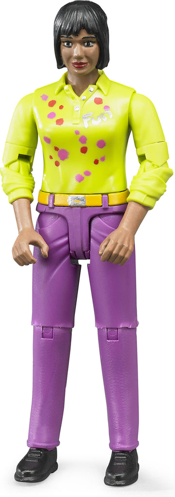 BRUDER - Bworld Womon with Medium Skin in Pink Jeans 60403