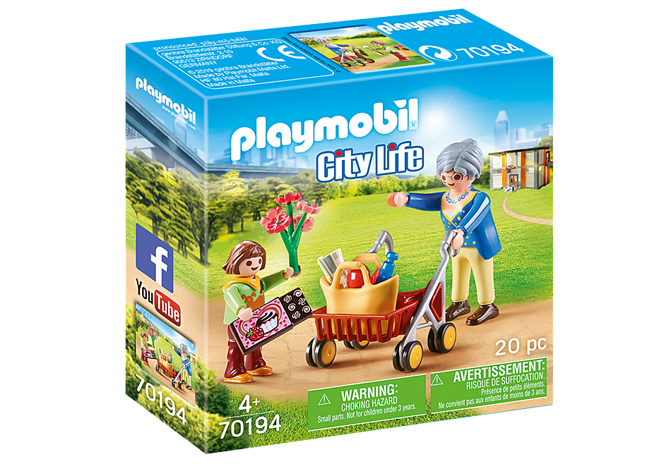 PLAYMOBIL CITY LIFE - Grandmother with Child - 70194