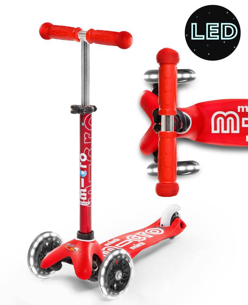 MICRO SCOOTER - Mini Micro Deluxe Led Scooter - Red