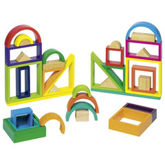 GOKI Rainbow building blocks -Without Solid Window