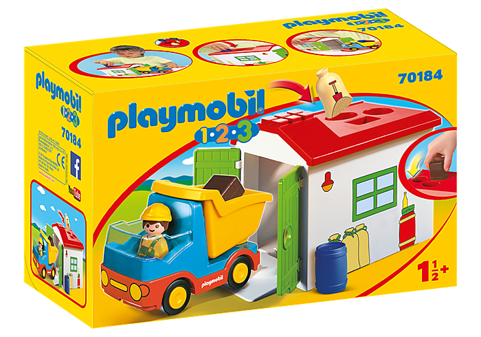 PLAYMOBIL 123 DumpTruck with Sorting Garage - 70184