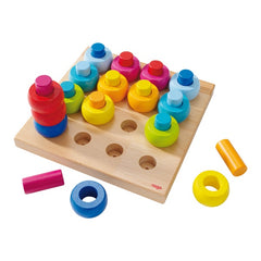 HABA Rainbow Whirls - Pegging
