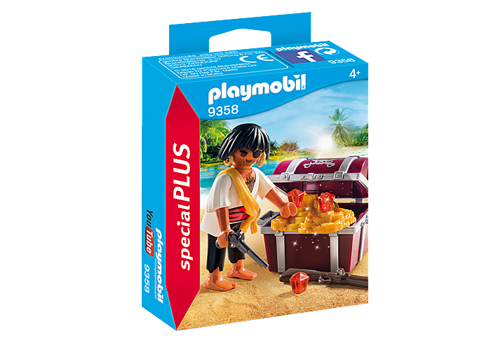 PLAYMOBIL Pirate with Treasure Chest - 9358