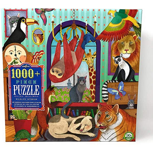 EEBOO - Puzzle - Wildlife Interior - 1008 Piece