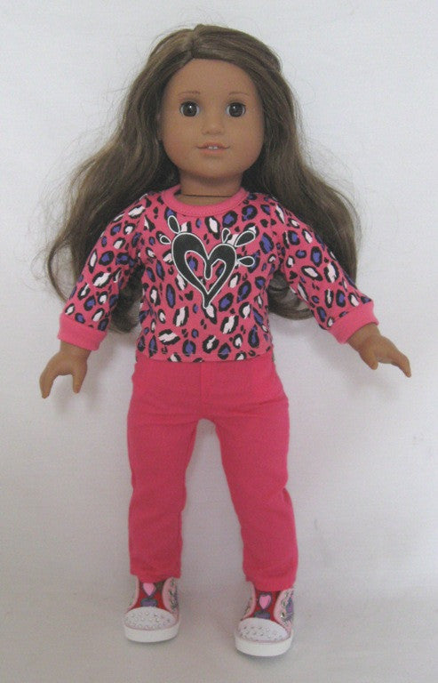 DRESS MY DOLL Skinny Pink Jeans