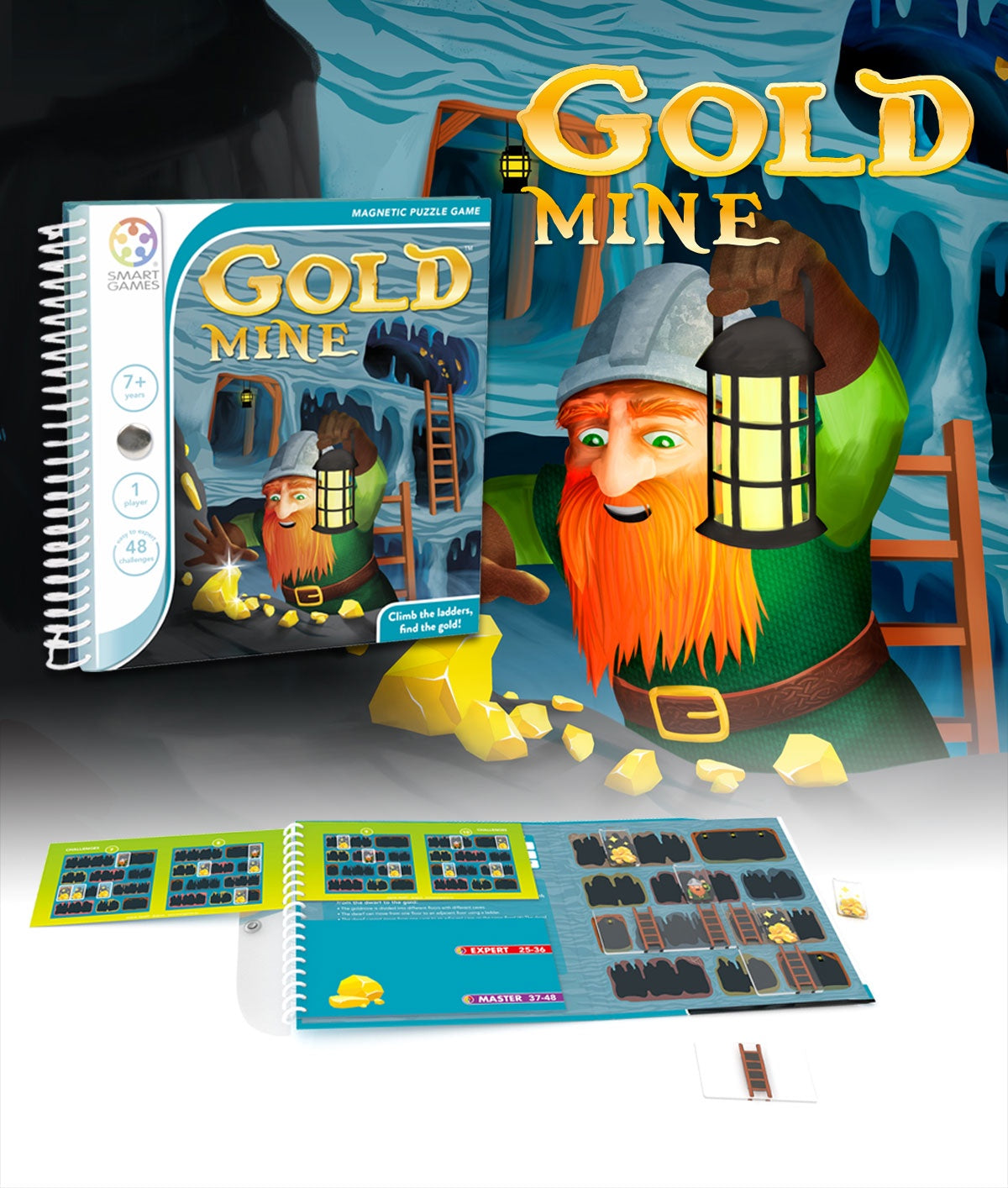 SMART GAMES - Magnetic Travel Game - Gold Mine