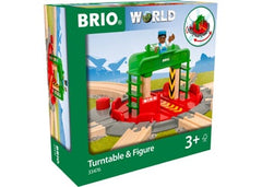 BRIO Tracks - Turntable & Figure 2 pieces - 33476