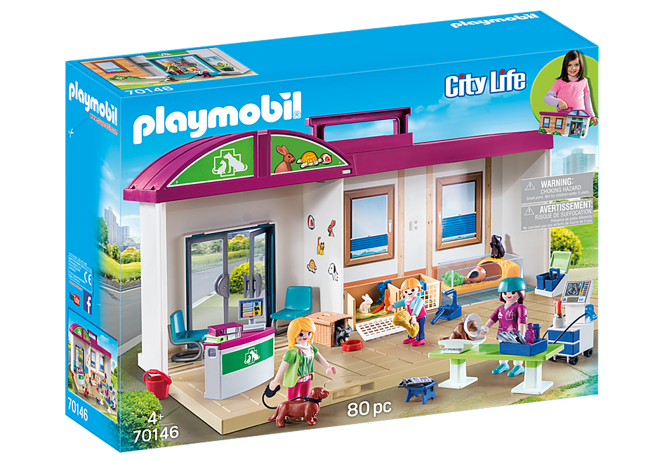 PLAYMOBIL Vet - Take Along Vet Clinic - 70146