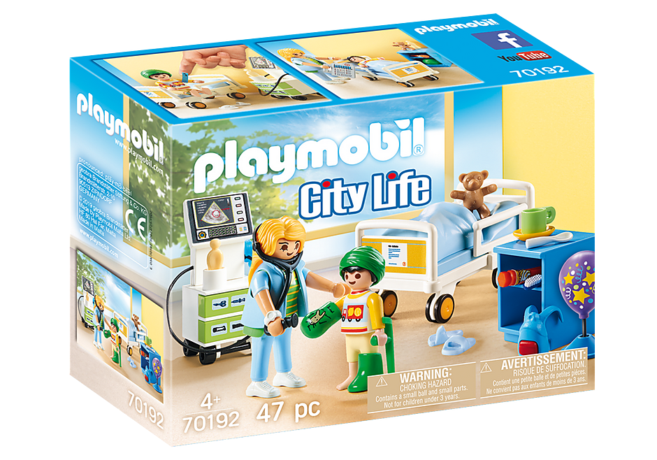 PLAYMOBIL City Life Medical - Children's Room - 70192