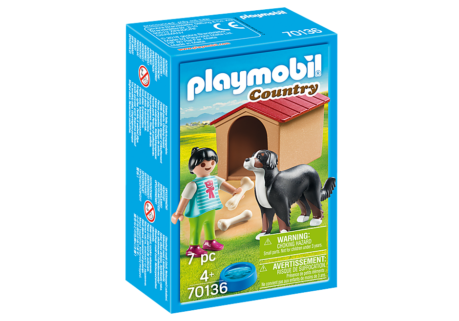 PLAYMOBIL Country - Dog with Dog House/Kennel - 70136