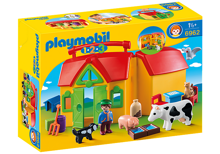 PLAYMOBIL 123 -  My Take Along Farm -  6962