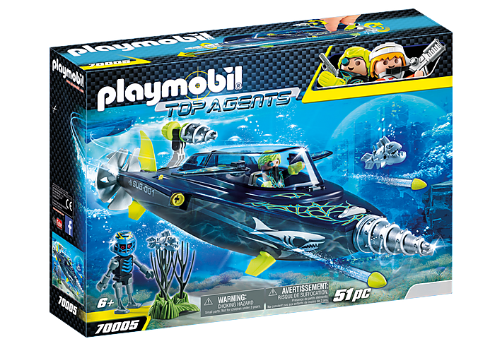 PLAYMOBIL TEAM S.H.A.R.K Drilll Destroyer - 70005
