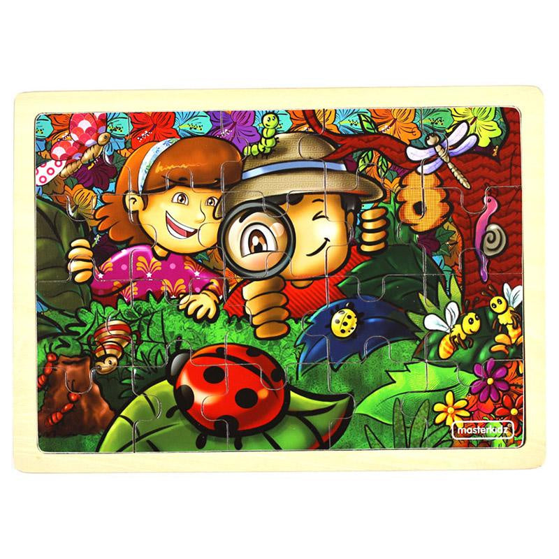 MASTERKIDZ Wooden Puzzle - Amazing Insects - 20 Piece