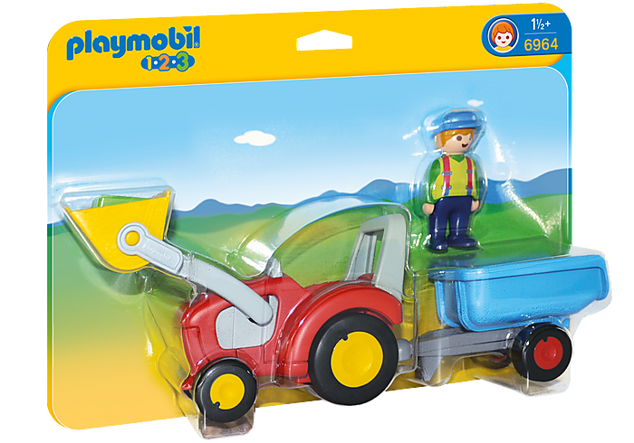 PLAYMOBIL 123 - Tractor with Trailer - 6964