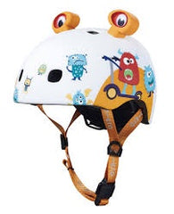 MICRO Kids Pattern Helmet - 3D Monsters -X Small