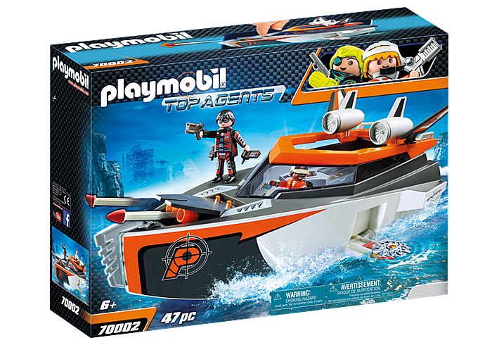 PLAYMOBIL SPY TEAM Turboship - 70002