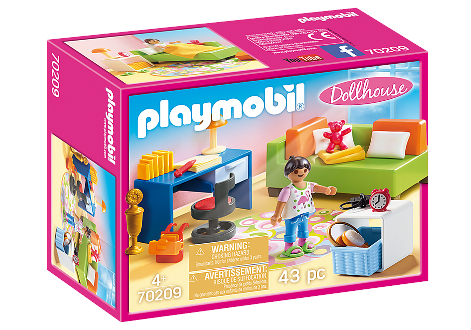 PLAYMOBIL  Dollhouse - Modern Teenager's Room - 70209