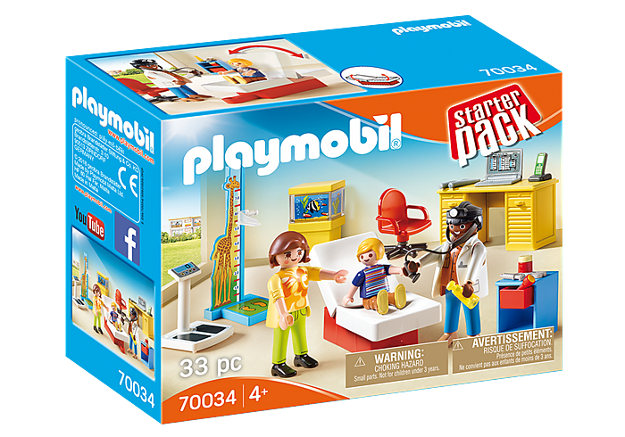 PLAYMOBIL - City Life Medical - Pediatrician's Office - 70034