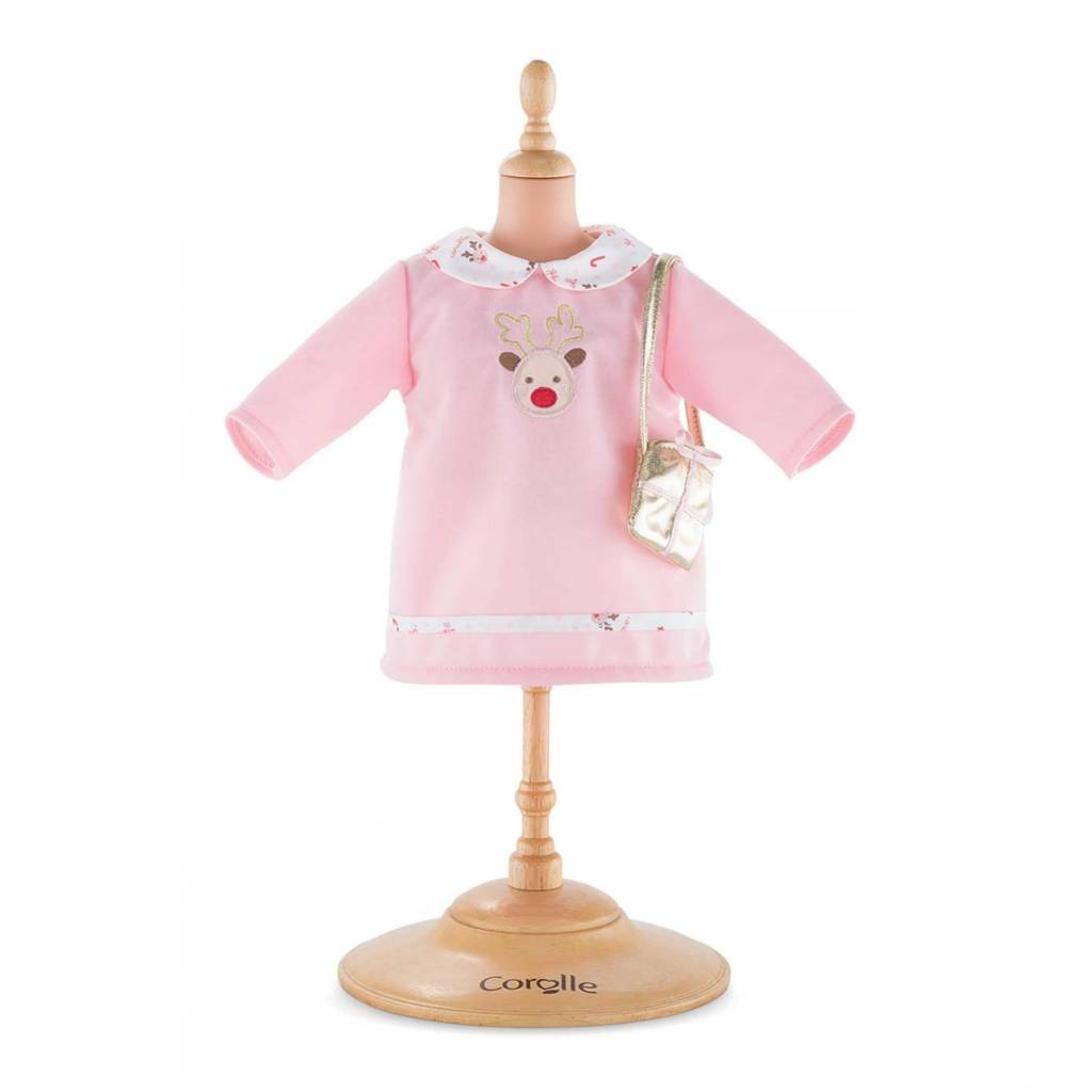 COROLLE - MON PREMIER - Clothing - Pink Happy Reindeer Dress 36cm