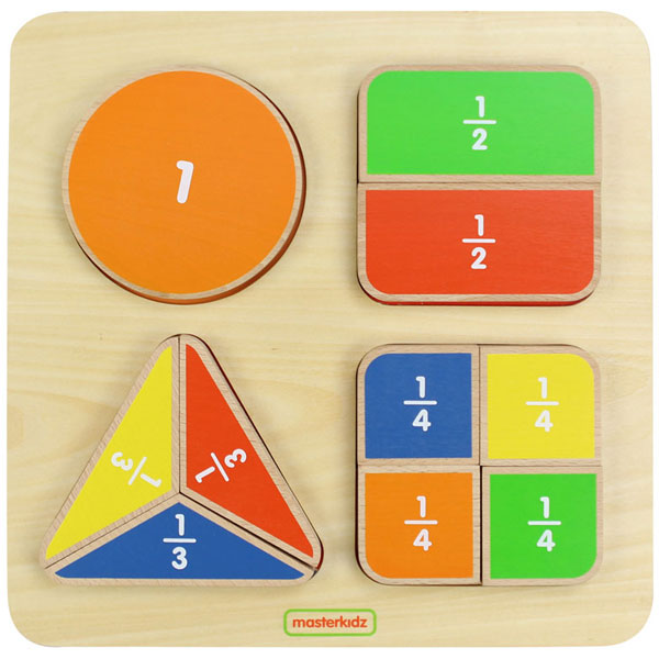 MASTERKIDZ Geometric Fraction Board