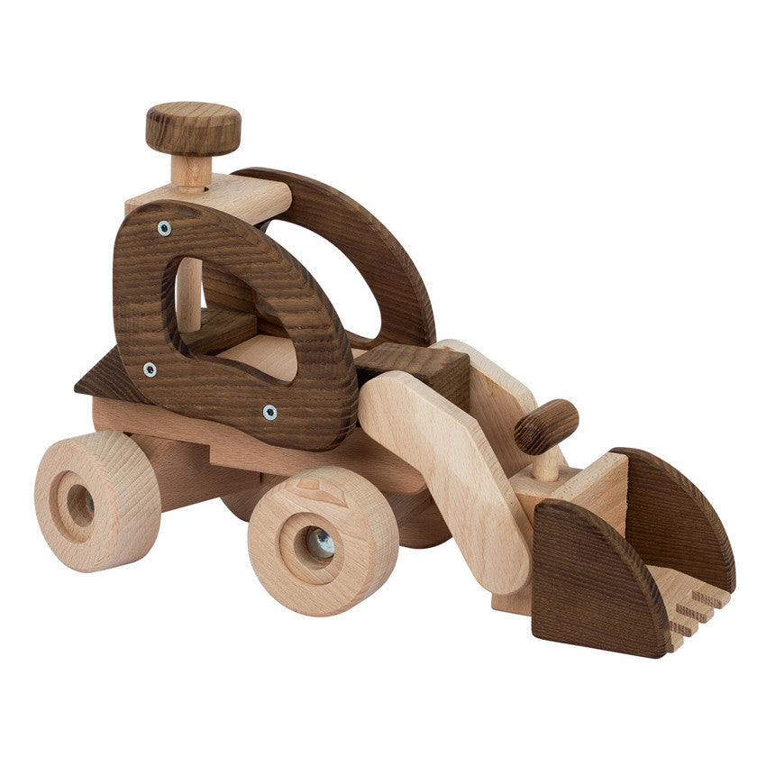 GOKI Nature - Wheel Loader Large - Wooden
