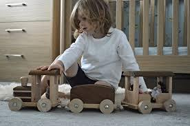 GOKI Nature Train with Carriages - Wooden 71cm