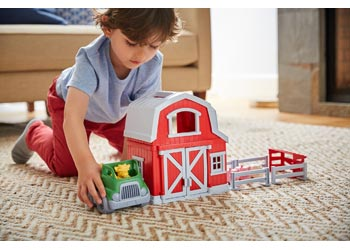 GREEN TOYS - Farm Play Set with Accessories
