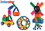 Interstar Construction -  Small Coloured Wheels Polybag 36pc